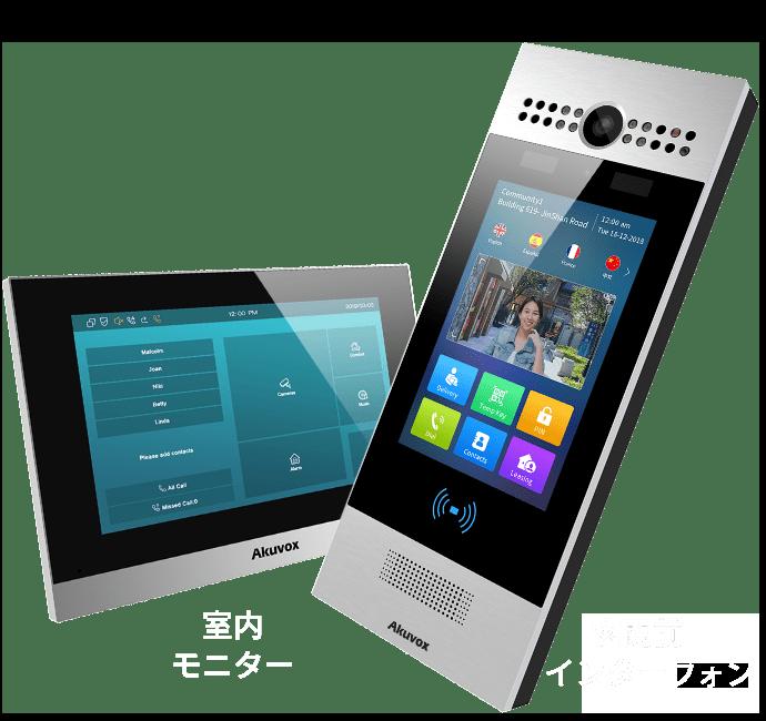 室内モニターと玄関前インターフォン イメージ